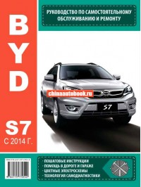 Руководство по ремонту BYD S7 с 2014 года выпуска - модели оборудованные бензиновыми двигателями