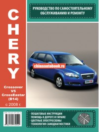 Руководство по ремонту Chery Crossover V5 / Crosseastar B14 - модели с 2008 года выпуска, оборудованные бензиновыми двигателями