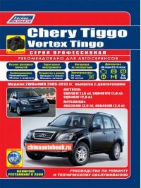 Руководство по ремонту Chery Tiggo / Vortex Tingo - модели с 2005 по 2013 год выпуска, оборудованные бензиновыми двигателями