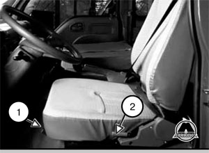 Водительское сиденье BAW FENIX BJ1044